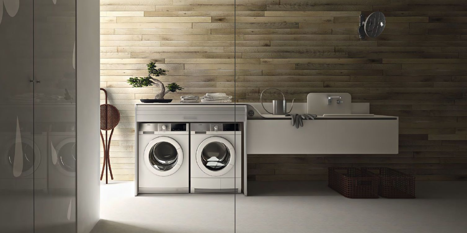 Laundry room designed by Valcucine